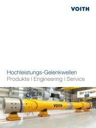 Hochleistungs-Gelenkwellen, Produkte | Engineering ... - Voith Turbo