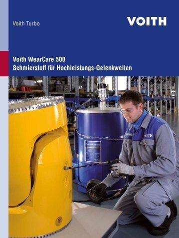 Voith WearCare 500 Schmierstoff für Hochleistungs-Gelenkwellen