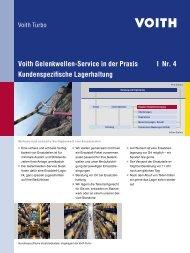 Voith Gelenkwellen-Service in der Praxis   Nr. 4 ... - Voith Turbo