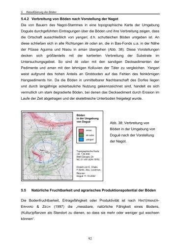 92 5.4.2 Verbreitung von Böden nach Vorstellung der Nagot Die von ...