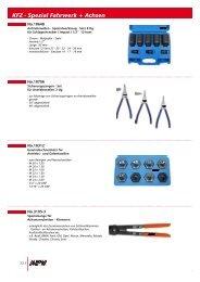KFZ - Spezial Fahrwerk + Achsen - MPW Werkzeuge