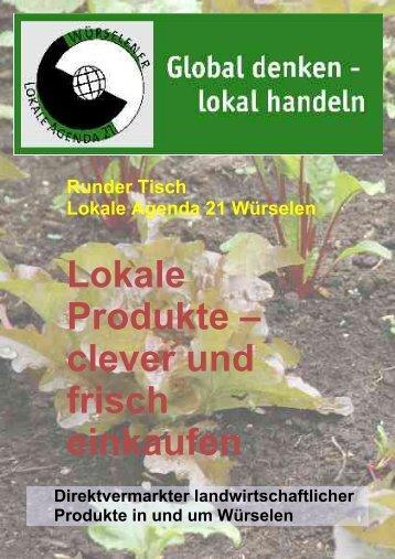 Lokale Produkte – clever und frisch einkaufen - Agenda-wuerselen.de