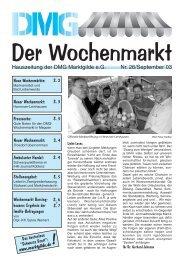 Der Wochenmarkt Nr. 26/September´03 - eckpunkt