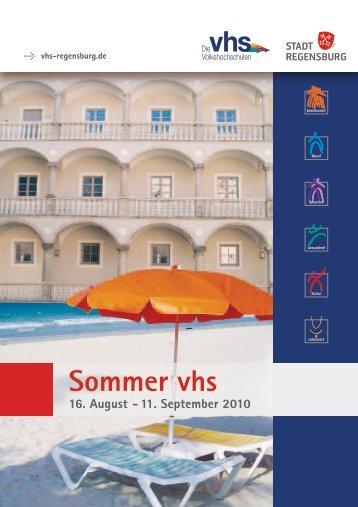 Sommer vhs - Volkshochschule der Stadt Regensburg