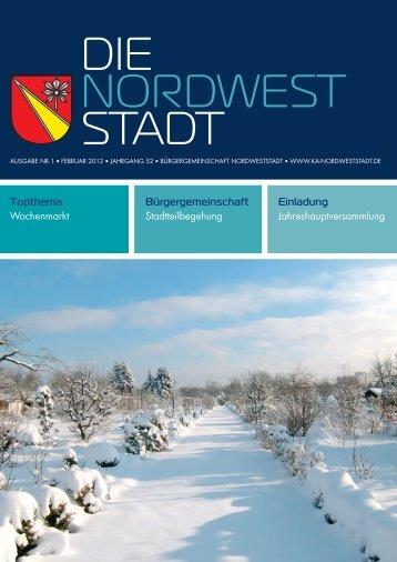 Ausgabe 1/2012 - Bürgergemeinschaft Nordweststadt e.V.