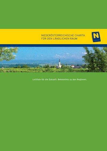 NÖ Charta für den ländlichen Raum - Niederösterreichische Charta ...