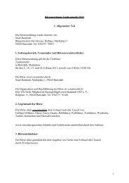1 Börsenordnung Taubenmarkt 2011 I. Allgemeiner Teil Die ...