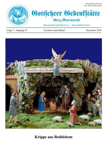 Krippe aus Bethlehem - gottscheer-gedenkstaette.at