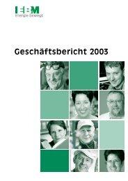 Geschäftsbericht 2003 - EBM