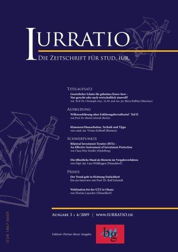 Die Zeitschrift für stud. iur. - Iurratio