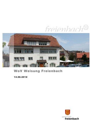 WoV Weisung Freienbach [PDF, 199 KB] - Gemeinde Freienbach