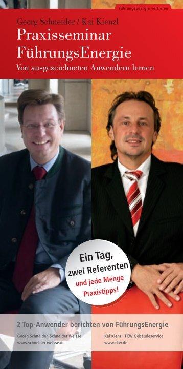 Praxisseminar FührungsEnergie - SchmidtColleg GmbH & Co. KG