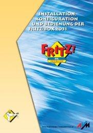 Handbuch FRITZ!Box 2031 - AVM
