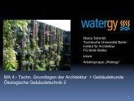 VL Ökologische Gebäudetechnik III: Adlershof, Dipl.Ing. Marco