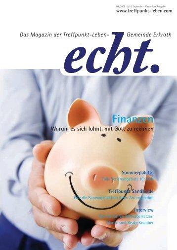 Finanzen - Treffpunkt Leben
