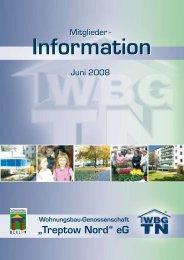 Stand der Baumaßnahmen 2008 - Wohnungsbau-Genossenschaft ...