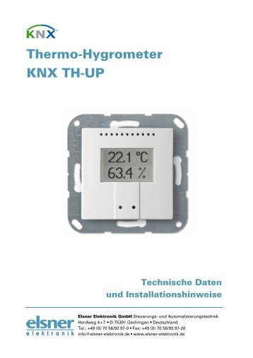 Datenblatt KNX TH-UP