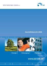 Geschäftsbericht 2008 - AVR