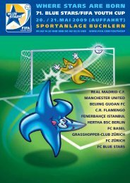 Komplettes Turniermagazin 2009 - Blue Stars/FIFA Youth Cup