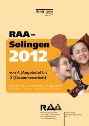 RAA–Solingen 2012 von A (Angebote) - RAA NRW