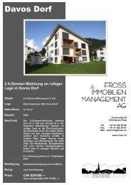 2.5-Zimmer-Wohnung an ruhiger Lage in Davos Dorf