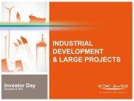 INDUSTRIAL DEVELOPMENT & LARGE PROJECTS - GDF Suez