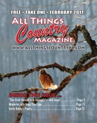 all things country, inc. - Bluegrass in the Bluegrass