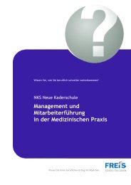Management und Mitarbeiterführung in der Medizinischen Praxis