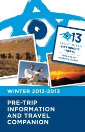 PRE-TRIP INFORMATION ANd TRAVEL ... - Birthright Israel