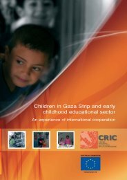 Children in Gaza Strip and early childhood educational sector - CRIC