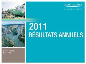 Réunion investisseurs crédit - GDF Suez