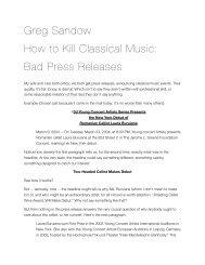 bad press releases - Greg Sandow