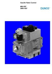 Gas/Air Ratio Control MB-VEF DMV-VEF - Dungs