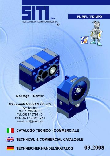 COMMERCIALE TECHNICAL & COMMERCIAL CATALOGUE  ...