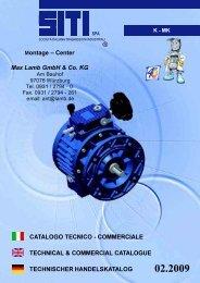 CATALOGO TECNICO - COMMERCIALE TECHNICAL ...