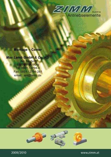 Katalog Verzahnungsteile 01/09 PDF, 24.5 MB - Max Lamb GmbH ...
