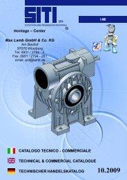 Katalog SITI Schneckengetriebe - Serie I - MI 10/09 - Max Lamb ...