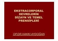 Ekstracorporal Devrelerin Dizayn ve Temel Prensipleri