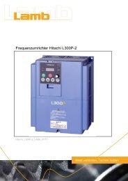 Betriebsanleitung HITACHI - Serie L300P-2 07/11 PDF - Max Lamb ...