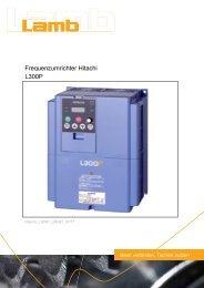 Katalog HITACHI - Serie L300P 07/11 PDF, 529 - Max Lamb GmbH ...