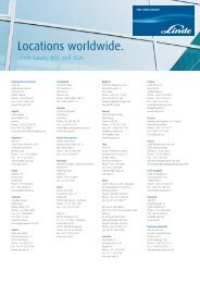 Locations worldwide. - Linde Gas