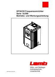 HITACHI Frequenzumrichter Serie SJ300 Betriebs- und ...