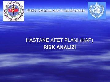 RİSK ANALİZİ - HAP Acil Servis Yönetimi - İstanbul İl Sağlık Müdürlüğü