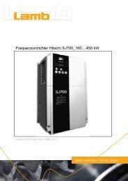 Betriebsanleitung HITACHI - Serie SJ700 High Power 07/11