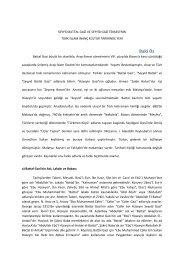 Baki Öz - Türk Kültürü ve Hacı Bektaş Velî Araştırma Dergisi