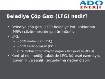 Belediye Çöp Gazı (LFG) nedir? - emo
