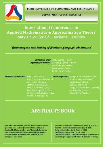 amat-2012 abstracts book - Eudoxus Press