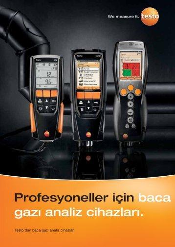 Profesyoneller için baca gazı analiz cihazları. - TestoSites