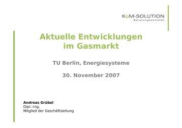 Präsentation Gasmarkt