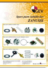 Spare Parts Suitable For: ZANUSSI